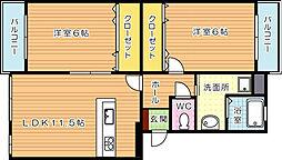 ソレイユ吉祥寺[2階]の間取り