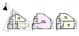 建物参考プラン:間取り/3LDK、延床面積/76.14m2、建物参考価格/1620万円(税込)
