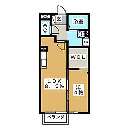 マ・メゾンT[2階]の間取り