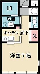 椚田マンション[3階]の間取り