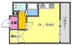 マスターズエル松ノ浜[403号室]の間取り