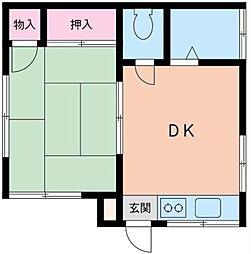 コスモAoi戸塚[202号室]の間取り