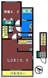 千葉県鎌ケ谷市南初富1丁目の賃貸アパートの間取り