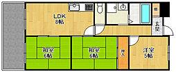 武庫之荘クラウンハイツ[3階]の間取り