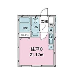 東京都品川区戸越3丁目の賃貸マンションの間取り