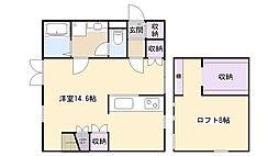 プリマサクラ弐番館[2階]の間取り
