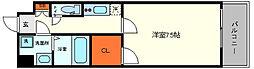 セレーノ大阪ウエストベイ 3階1Kの間取り