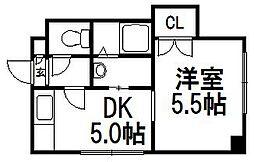 北海道札幌市白石区南郷通7丁目南の賃貸マンションの間取り