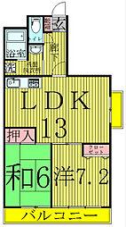マンションフジフィールド[1階]の間取り