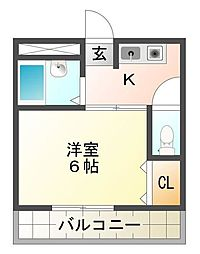 VIVID CASTLE[1階]の間取り