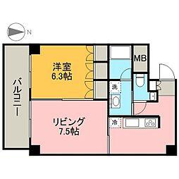 TACHIBANA BOX24[3階]の間取り