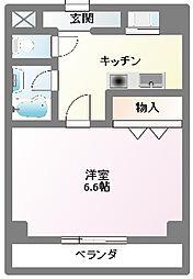 コーポ社台[1階]の間取り