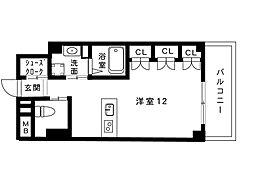 Xing cube one 4階ワンルームの間取り
