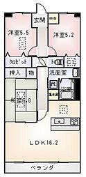 ルネス石津[3階]の間取り