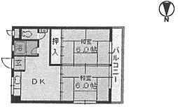 ヴィラ東田[305号室]の間取り