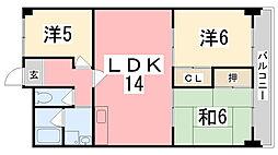 Kプラザ[6階]の間取り
