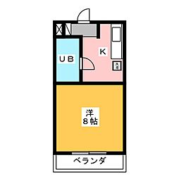 ブルームKII[1階]の間取り