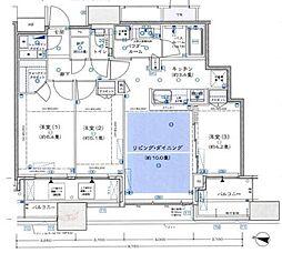 シティタワー梅田東(CITY TOWER UMEDA HIGASHI) 9階3LDKの間取り