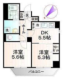 ビィ・フォルマ東日本橋 3階2DKの間取り