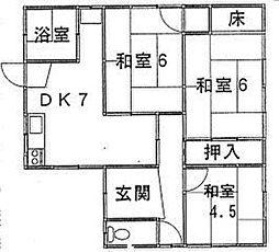 鳥取県米子市三本松2丁目 [一戸建] の間取り