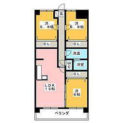 鴻ノ巣ヒルズビル[3階]の間取り