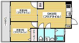 松栄スカイコーポ[4階]の間取り