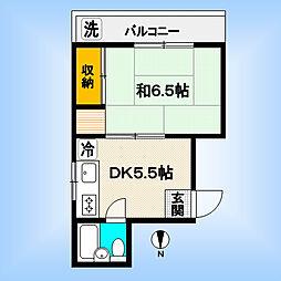 東京都中野区弥生町5丁目の賃貸マンションの間取り