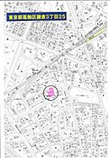 航空地図です。最寄駅から徒歩4分。買い物等、駅近は、やっぱり便利です。