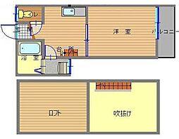 長崎県長崎市丸山町の賃貸アパートの間取り