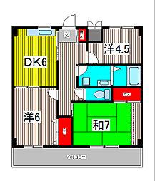 キャッスルカネコ[3階]の間取り