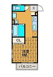 神奈川県相模原市南区上鶴間6の賃貸アパートの間取り
