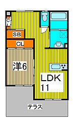 中尾コンセプトハウス[2階]の間取り