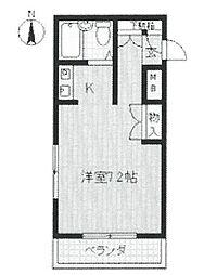 ジョイフル北武庫之荘[117号室]の間取り