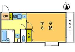 フクイマンション[103号室]の間取り