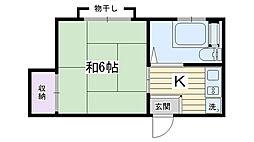 コーポSAKAIRI[302号室]の間取り