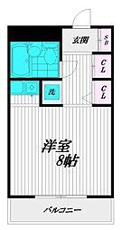 Ciel 川崎[206号室]の間取り