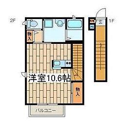 ガーデンビューコテージ[2階]の間取り