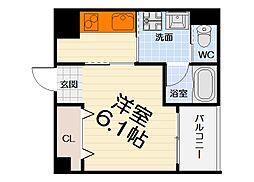 大阪府堺市西区浜寺諏訪森町西1丁の賃貸マンションの間取り