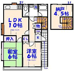 フォーラム倉持II[2F号室]の間取り