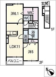 エスペランサ I[2階]の間取り