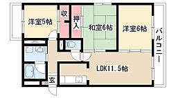 愛知県名古屋市天白区植田山4丁目の賃貸マンションの間取り