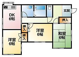 [一戸建] 千葉県大網白里市南横川 の賃貸【/】の間取り
