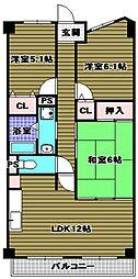 ルノン和泉中央[2階]の間取り