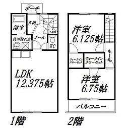 [テラスハウス] 静岡県浜松市中区高林2丁目 の賃貸【/】の間取り