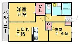 サンライズ和田[2階]の間取り