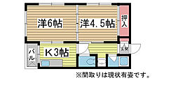 兵庫県神戸市長田区久保町2丁目の賃貸アパートの間取り