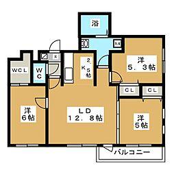 北海道札幌市白石区菊水七条1丁目の賃貸マンションの間取り
