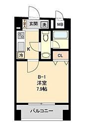 COMODO水天宮レジデンス[5階]の間取り