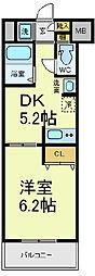カスタリア日本橋高津[3階]の間取り