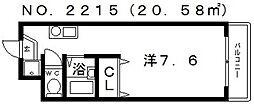 セラ帝塚山[2階]の間取り